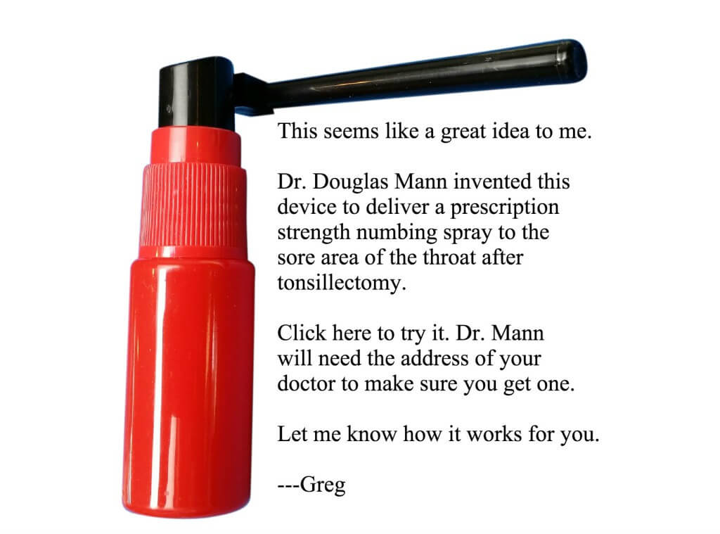 Tonsillectomy fire extinguisher text